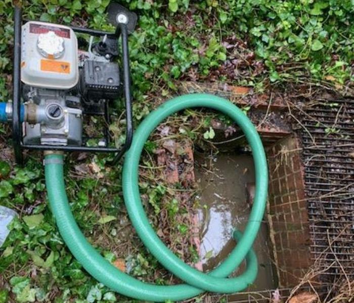 Gas Powered Sump Pump with Green Hose