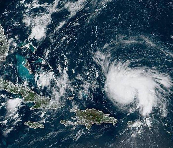 Aerial View of Hurricane Dorian from Hurricane Season 2019